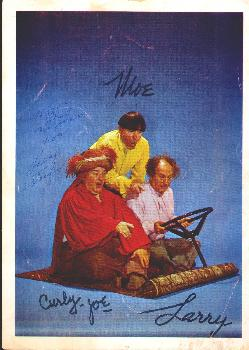Autographed Three Stooges picture
